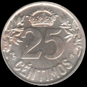 25 Cents Alfonso XIII